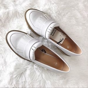 H&M white loafers shoes